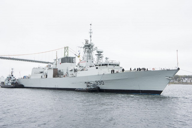 HMCS Halifax in Harbour