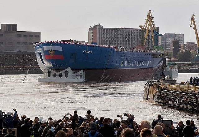 Russia Launched the Second Project 22220 Nuclear Icebreaker Sibir 2
