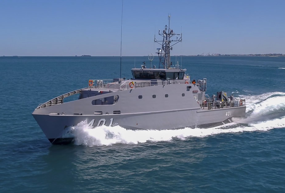 Austal Delivers First Guardian class Patrol Boat for Papua New Guinea