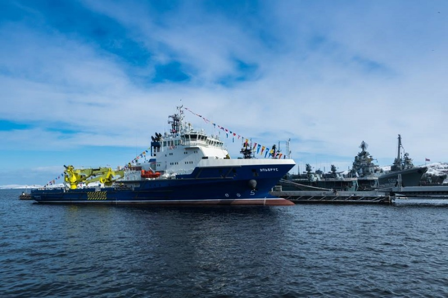First Project 23120 Supply Vessel Elbrus Joined Russian Navy 1