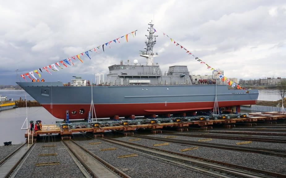 Russian Navy Third Project 12700 MCM Vessel Launched in St. Petersburg