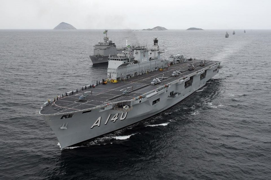 Brazilian Navy Helicopter Carrier Atlântico Arrived in her Homeport