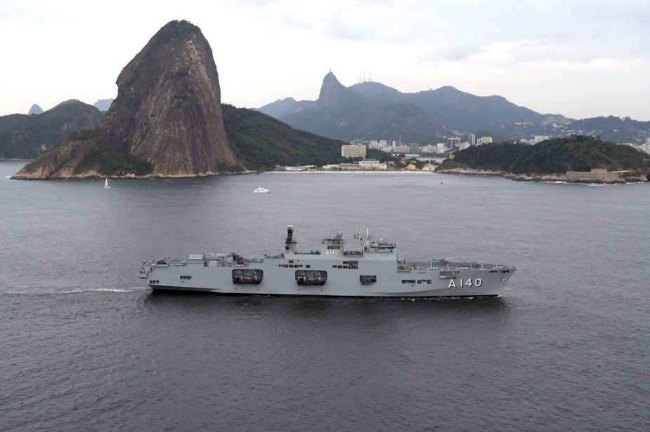 Brazilian Navy Helicopter Carrier Atlântico Arrived in her Homeport 2