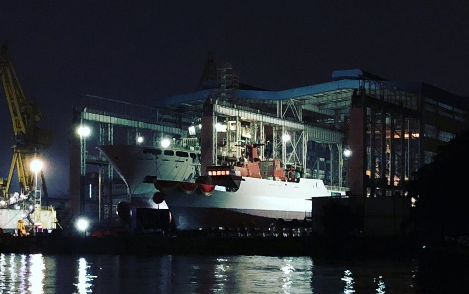 PLANs 50th Type 056 Corvette Wuzhou Launched by Shipyard in Southern China 1