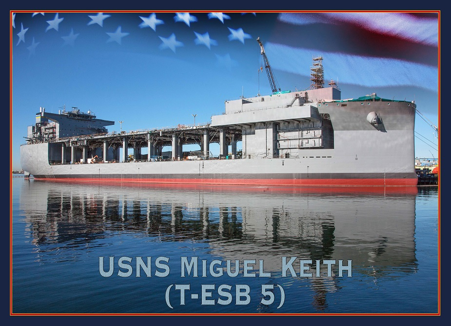 GD NASSCO Laid Keel for Future USNS Miguel Keith ESB 5