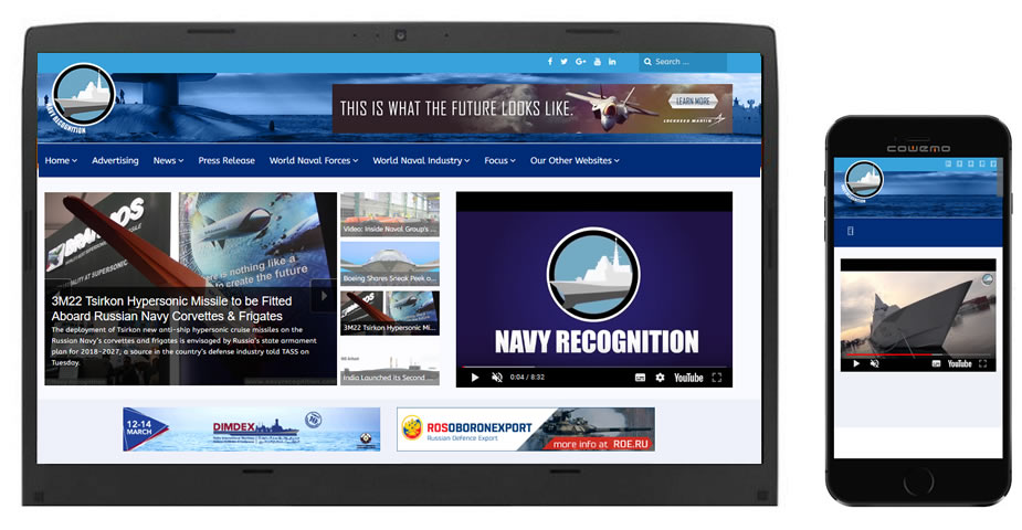 Navy Recognition officially launches its newly redesigned website