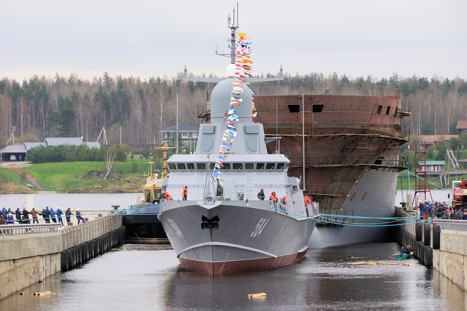 Russia launches Third Project 22800 Corvette Shkval 1st one with Pantsyr M 2