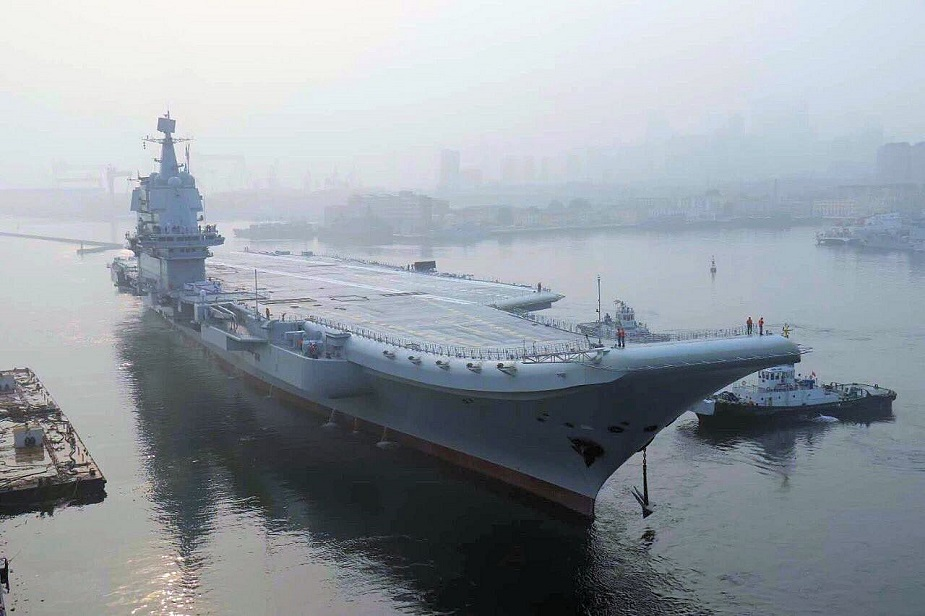 Video Chinas First Home Built Aircraft Carrier Type 001 Started Sea Trials