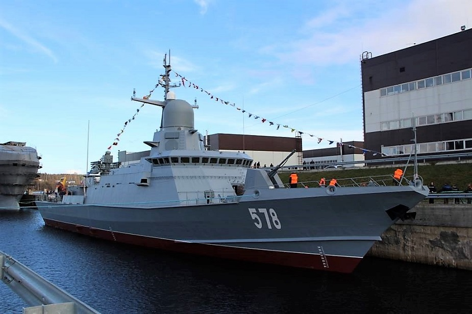 Russias Pella shipyard Launched Karakurt class Corvette Burya