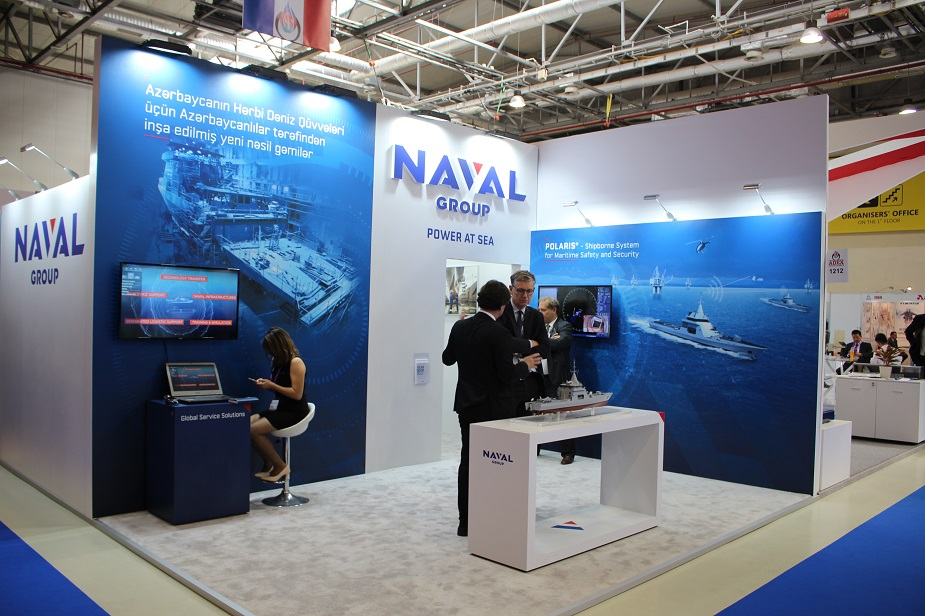 Naval Group showcases its multi missions Offshore Patrol Vessel 90 at ADEX 2018 in Baku