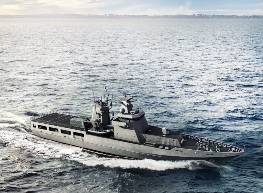 ASC has constructed the keel of the first Australian Arafura class OPV