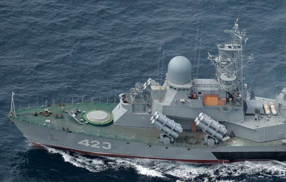 Russian Navys upgraded missile corvette Smerch holds fire exercise in Sea of Japan 925 002
