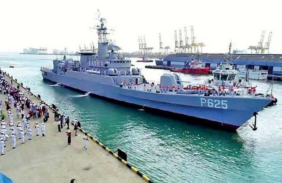 Sri Lanka Navy receives P 625 vessel offered by China