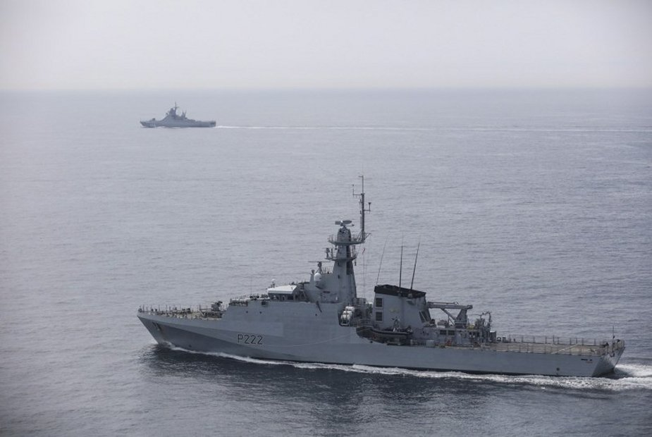 Royal Navy HMS Forth shadowed Russian Navy Vasily Bykov through English Channel