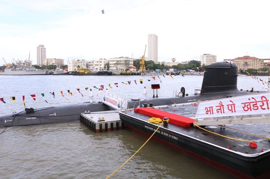 Commissioning of INS Khanderi second Indian Navy SCORPENE class submarine made in India 925 001