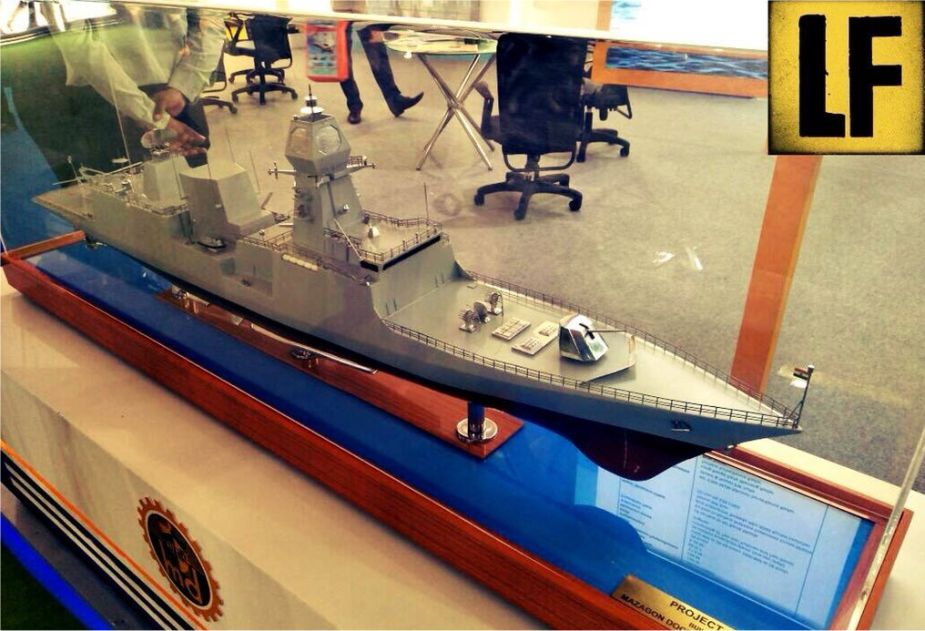 Navy of India has launched its first Stealth P 17A Nilgiri class frigate INS Nilgiri 925 002