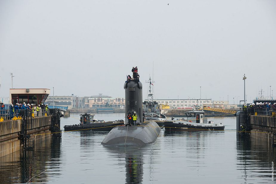 French company Naval Group has started sea trials of Suffren Barracuda class nuclear attack submarine 925 002