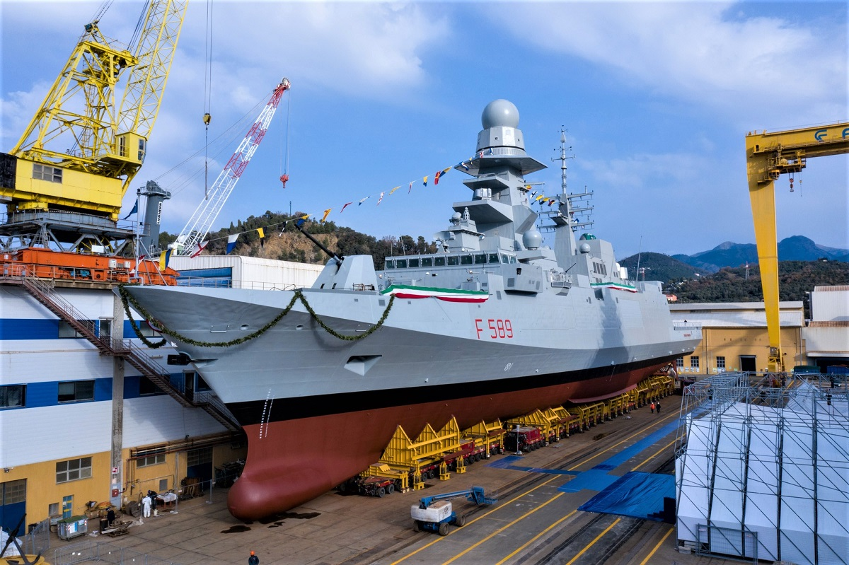Fincantieri Launched the Italian Navys Tenth and Final FREMM Frigate