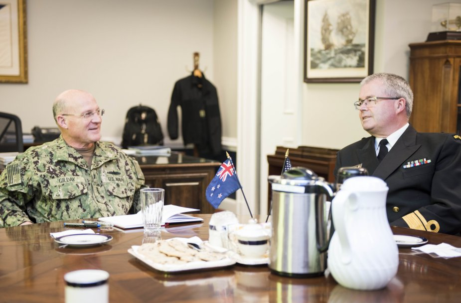 Chief of Naval Operations meets Chief of Royal New Zealand Navy for Advances Partnership 925 001