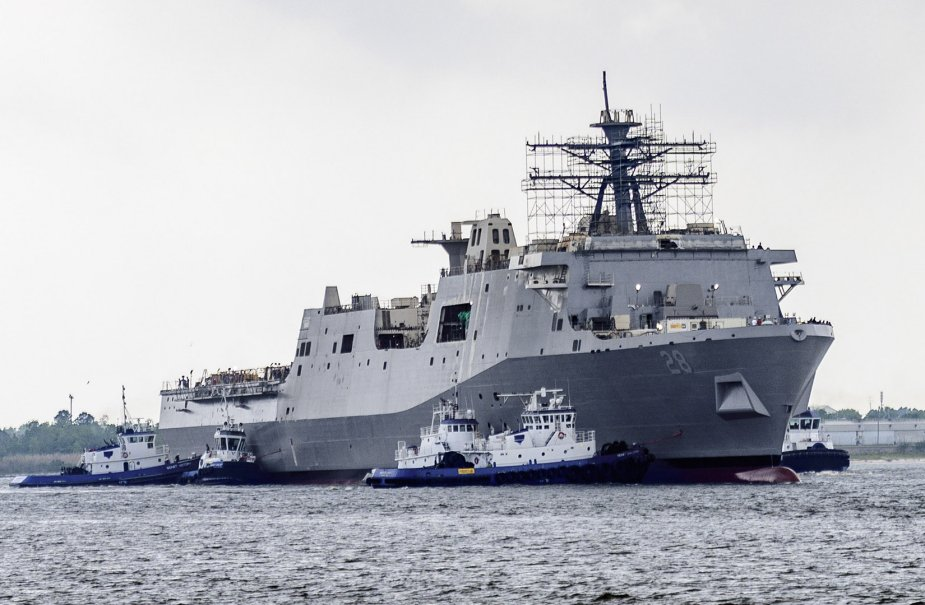 Future USS Fort Lauderdale Amphibious Transport Dock Ship Launched 925 001