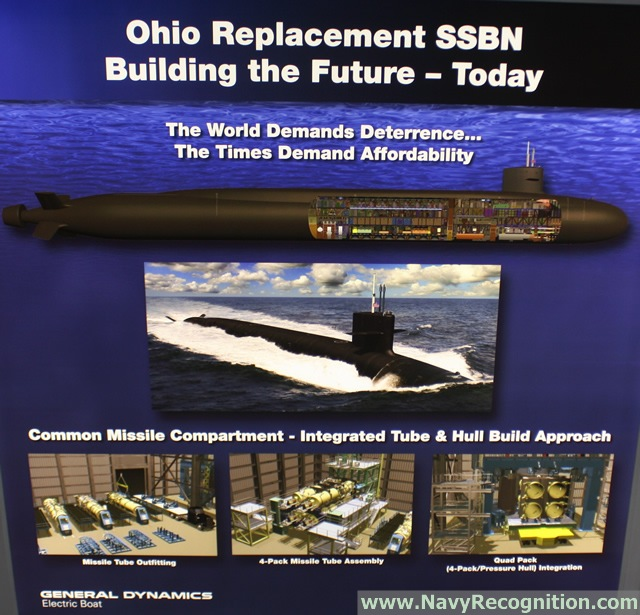 The U.S. Navy has awarded General Dynamics Electric Boat a $101.3 million contract modification to continue development of the Common Missile Compartment for the Navy's Ohio Replacement submarine and the United Kingdom's Successor-class ballistic-missile submarine. The modification is for the procurement of 22 missile tubes to support the manufacturing of the Common Missile Compartment. Electric Boat is a wholly owned subsidiary of General Dynamics.