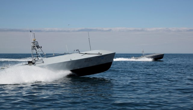 During Sea-Air-Space 2015, Textron Systems Unmanned Systems showcased its Fleet-Class Common Unmanned Surface Vehicle (CUSV). The CUSV is part of US Navy's Unmanned Influence Sweep System program, which is planned for the Mine Countermeasure (MCM) mission package dedicated to the Littoral Combat Ship (LCS).