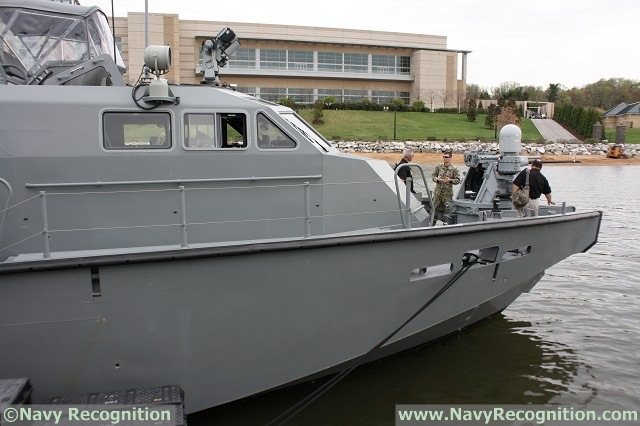 Navy Expeditionary Combat Command was showcasing its brand new MK VI Patrol Boat (PB) during Sea-Air-Space 2015. Navy Recognition discussed with Commander Pete Berning, U.S. Navy Coastal Riverine Force, (whom we already met last year). The MK VI is a next generation PB and the latest addition to the US Navy fleet.