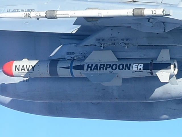 Boeing Harpoon ER anti ship missile