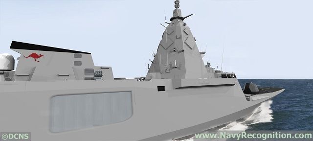 At PACIFIC 2015, the international maritime exposition currently held in Sydney Australia, DCNS shared with Navy Recognition some computer generated images (CGI) showing a FREMM multi-mission frigate fitted with CEA's CEAFAR 2 radar. The conceptual images are representative of DCNS proposal for the SEA5000 program which calls for the replacement of 9 Anzac class frigates.