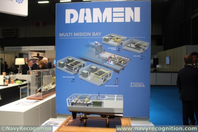 DAMEN showcases its SIGMA Multi Mission Bay concept during UDT 2015