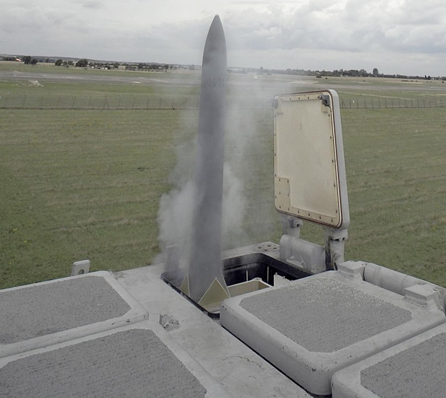 LONDON, Sept. 12, 2013 – MBDA and Lockheed Martin demonstrated the first launch of a Common Anti-air Modular Missile (CAMM) from Lockheed Martin's MK 41 Vertical Launching System (VLS) launcher using the host variant of the Extensible Launching System (ExLS).