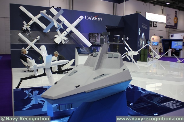 During DSEI 2015 which took place in London from 15-18 September, Isralie company UVision displayed for the first time the maritime capabilities of its HERO Lethal Loitering system on an NPL. In addition to the NPL on display, the company also exhibited the entire HERO family of 6 systems, as well as a Vehicle Platform Launcher demonstrating the HERO-30's integration capabilities with land platforms.