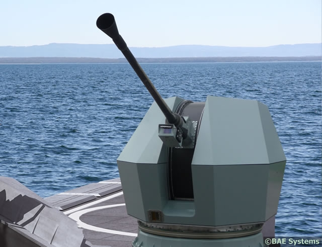 The Bofors 40 Mk4 naval gun system was designed to be an agile, flexible weapon systems that enable a lightning-quick response. Its low weight and compact dimensions combine with a long range and a high rate of fire. It has the capability to rapidly switch between optimised ammunition types, including programmable 40mm 3P all-target ammo.